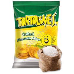 Zöldbanán Chips Tortolines - sós, gluténmentes - 100 g