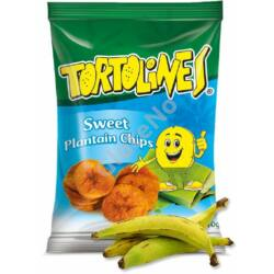 Zöldbanán Chips Tortolines - édes, gluténmentes - 100 g