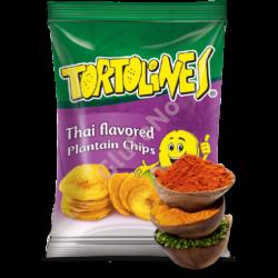 Zöldbanán Chips Tortolines - thai, gluténmentes - 100 g