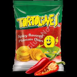 Zöldbanán Chips Tortolines -fűszeres, gluténmentes - 100 g
