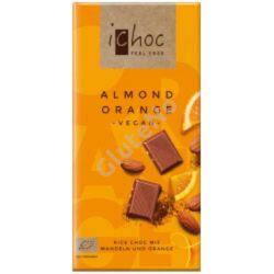 ichoc Bio  rizstejes fehér csokoládé mandulás-narancsos - 80 g