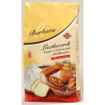 Barbara Gluténmentes Lisztkeverék kenyér és kelt tésztákhoz 1000 g