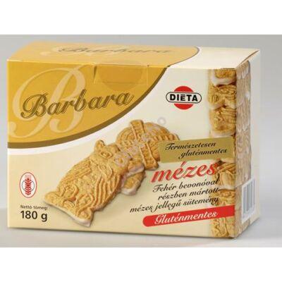 Barbara Gluténmentes Mézes keksz fehércsoki talppal 180 g