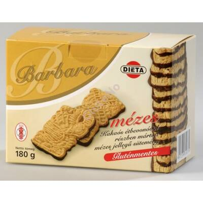 Barbara Gluténmentes Mézes keksz étcsoki talppal 180 g