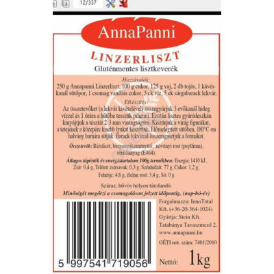AnnaPanni Gluténmentes Linzerliszt - 1 kg