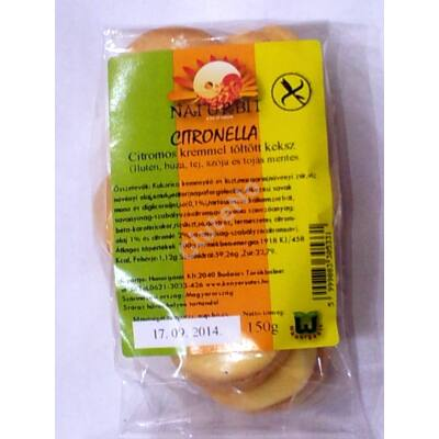 Naturbit Gluténmentes Citronella sütemény -  150 g