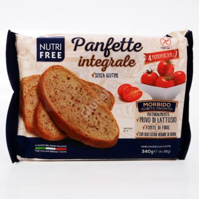 Nutri Free Panfette Integrale (gluténmentes szeletelt korpás kenyér) - 340 g (4x85 g)