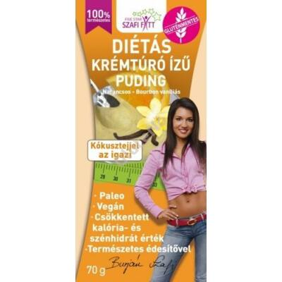 Szafi Fitt Krémtúró ízű pudingpor  - 70 g