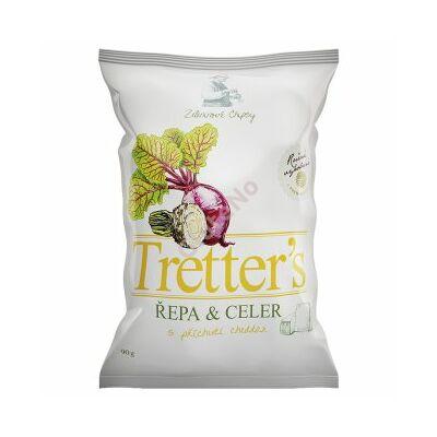 Tretter's gluténmentes Cékla-zeller chips, cheddar ízesítésű - 90 g