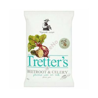 Tretter's gluténmentes Cékla-zeller Chips, tengeri sós - 90 g