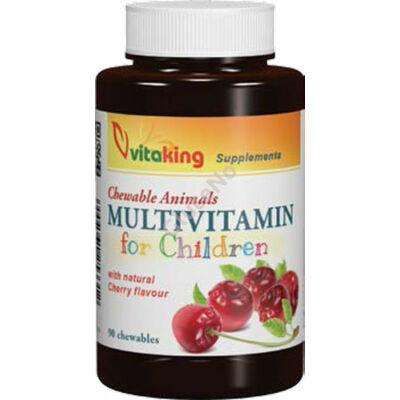 Vitaking Multivitamin Rágótabletta gyerekeknek (meggyes) - 90 db