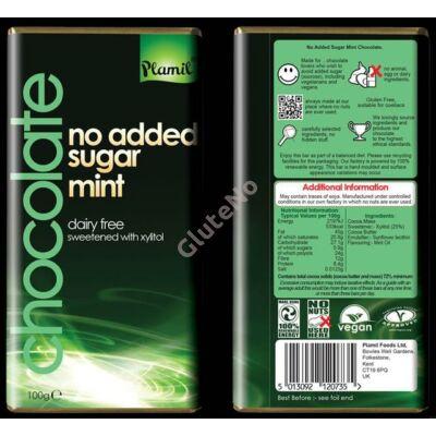 Plamil No Added Sugar, Mint étcsokoládé (gluténmentes, tejmentes) - 100 g