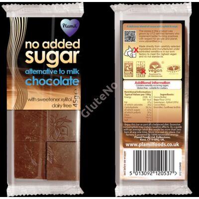 Plamil No Added Sugar Gluténmentes és tejmentes Kávés csokoládé - 45 g