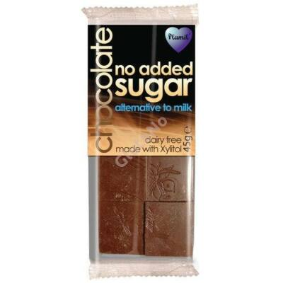 "Plamil No Added Sugar - alternative to milk - xylites ""tej""csokoládé (gluténmentes, tejmentes) - 35 g"