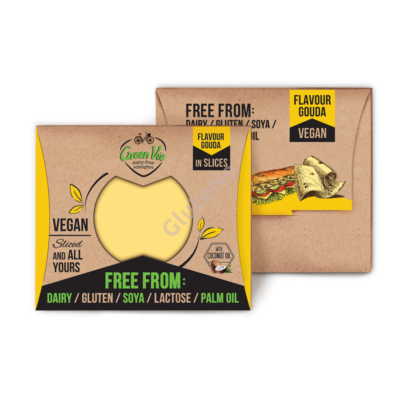 Green Vie  Gouda szeletelt, vegán sajt, gluténmentes - 180 g