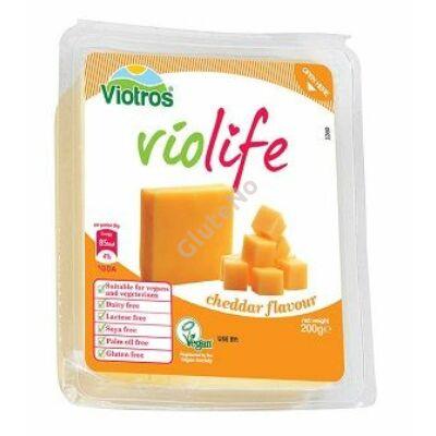 Violife növényi sajt, Cheddar ízű - 200 g
