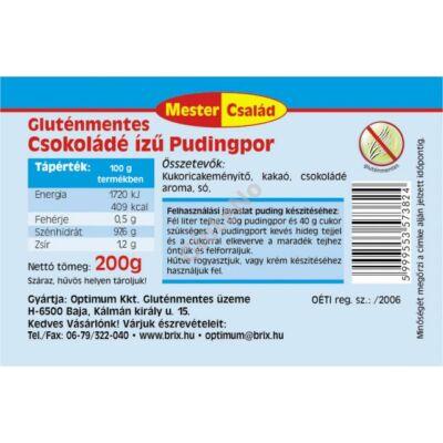 Mester Család Gluténmentes PUDINGPOR - Csokoládé