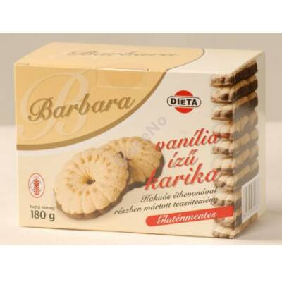 Barbara Gluténmentes Vaníliás karika  180 g