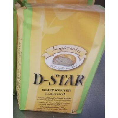 D-Star Fehérkenyér (Diabestar Diabetikus) Lisztkeverék -1000 g