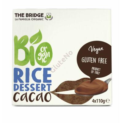 The Bridge Bio Rizs desszert., csokoládés -  4x110 g