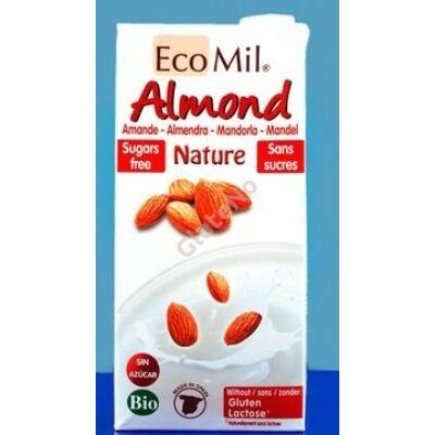 Ecomil bio mandulaital, natúr, cukormentes - 1000 ml