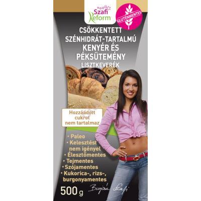 SZafi Reform csökkentett szénhidrát-tartalmú paleo kenyér és péksütemény lisztkeverék  -  500 g
