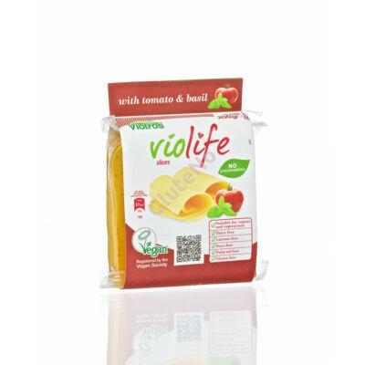Violife szeletelt növényi sajt, Paradicsom-bazsalikom - 200 g