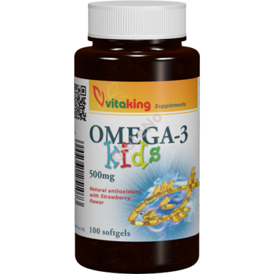 Vitaking Omega-3 KIds - 500 mg - 100 db