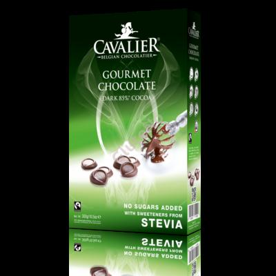 Cavalier Étcsokoládé pasztilla steviával dobozban -300 g
