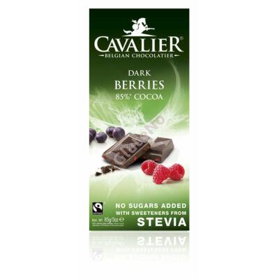 Cavalier csokoládé bogyós gyümölcsökkel (Stevia édesítőszerrel) 85g