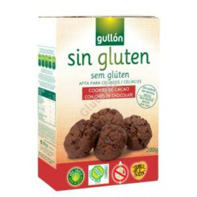Gullon Choco Chips gluténmentes csokis keksz - 200 g