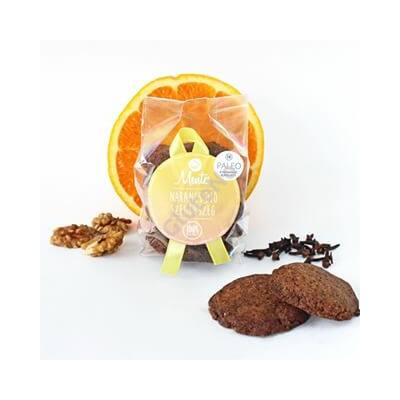 Mentes Narancs-dió-szegfűszeg keksz - 80 g - Sós és édes..