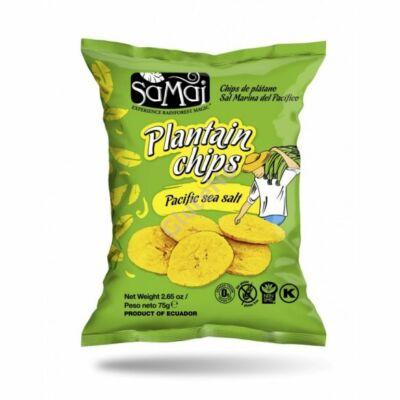 SAMAI Plantain  főzőbanán chips tengeri sós - 75 g