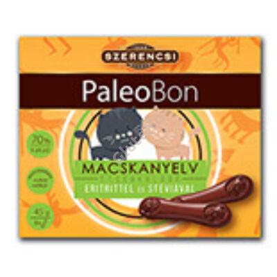 Paleobon Macskanyelv Étcsokoládé édesítőszerrel (Szerencsi) - 45 g