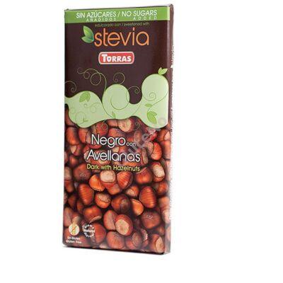 Torras Gluténmentes Mogyorós étcsokoládé édesítőszerrel - 125 g