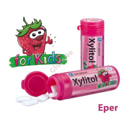 Xylitol for Kids Rágógumi Eper - 30 db
