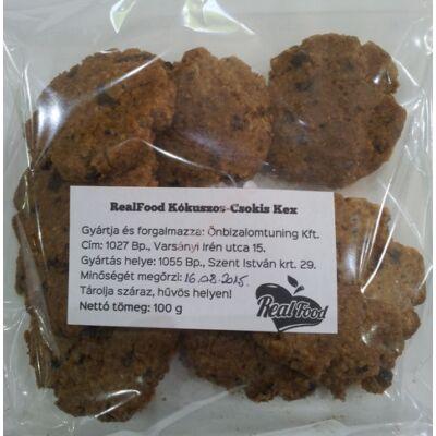 Real Food Kókuszos-csokis keksz 100 g
